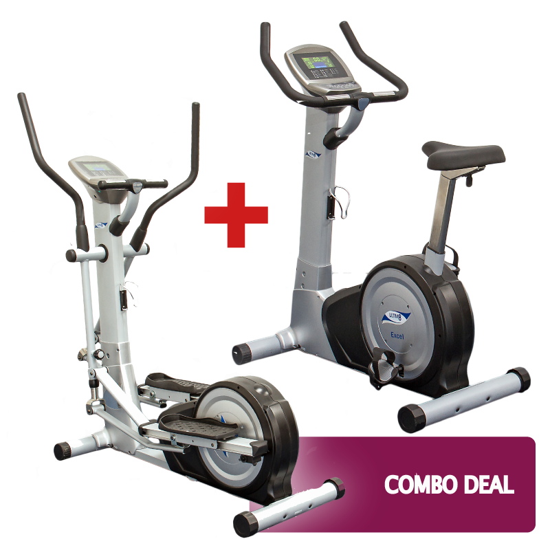 hire exercise bike and cross trainer combo deal