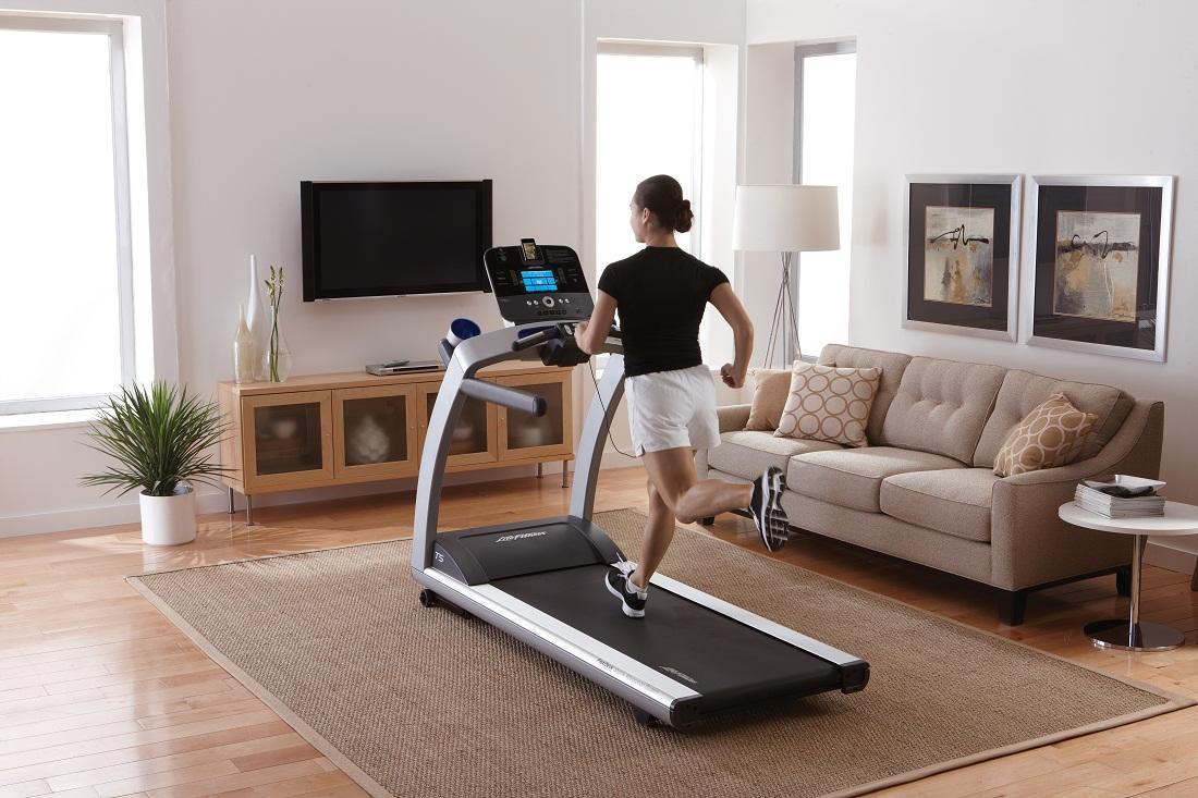 Treadmill in hotel room
