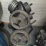 Tri-Grip Olympic Weight Set & Triangle Rack