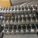 Chrome Dumbells & Rack