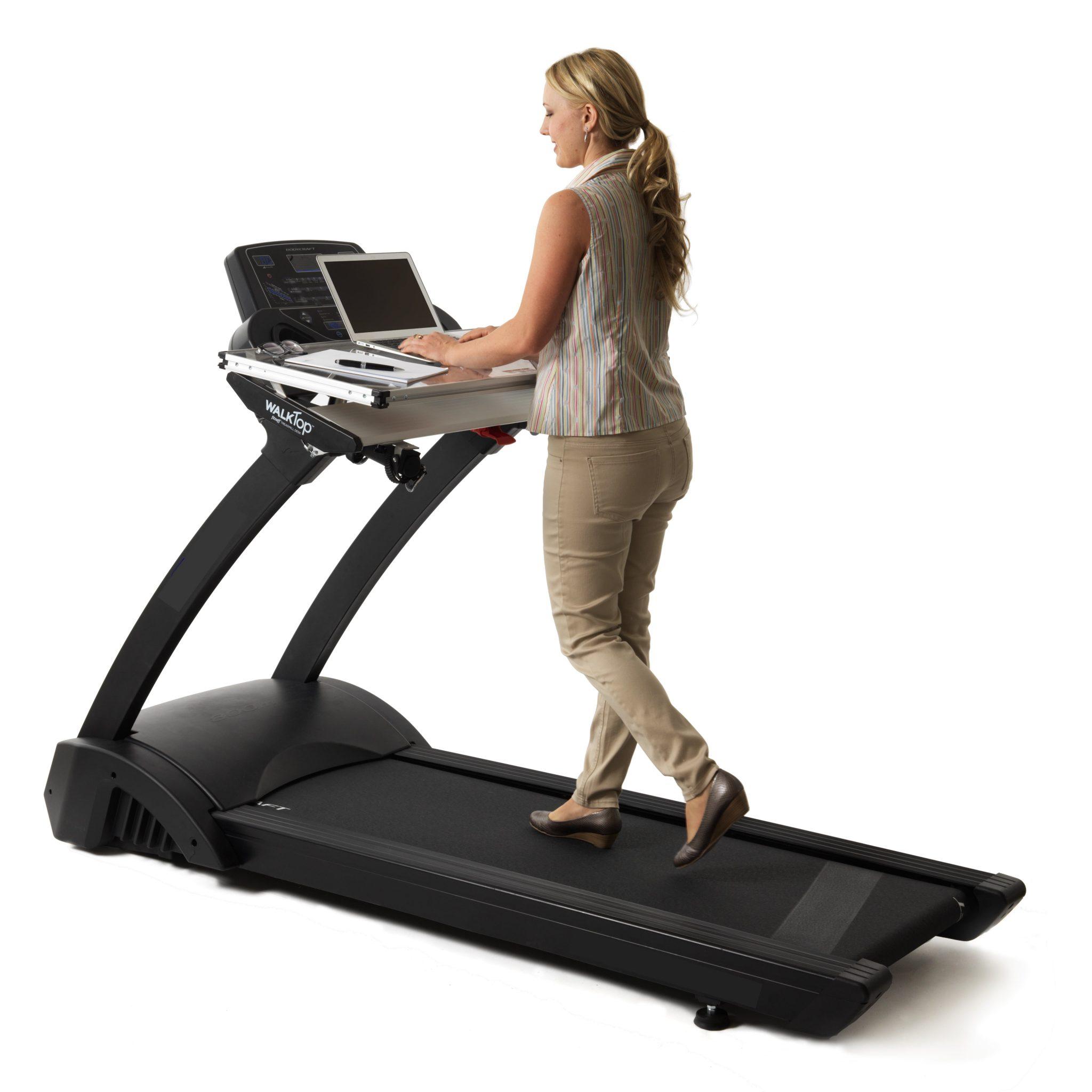 Treadmill Desk Hire Brisbane: WalkTop-on-Treadmill-21COMPRESSED TO 1MB