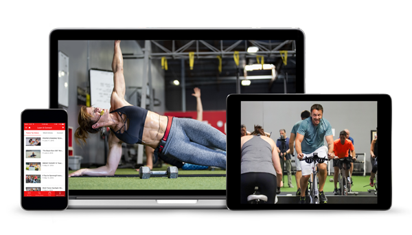 Peloton® Style Race Bike and Phone/Tablet Holder + Subscription to Online Classes