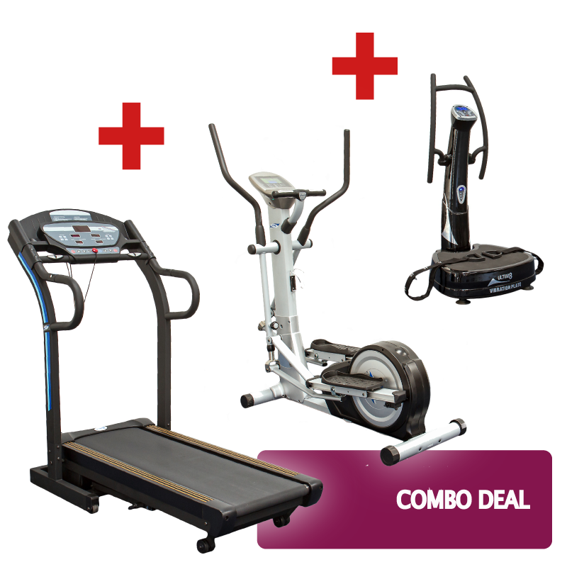 Treadmill, Cross Trainer and Vibration Plate Combo Deal
